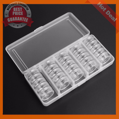 25 Slots Empty Storage Container Box Case for Nail Art Tips Rhinestone Gems