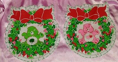 Vtg Care Bears Pillow Cut Out Sew Cheer Good Luck Fabric Wreath Ornament Pattern