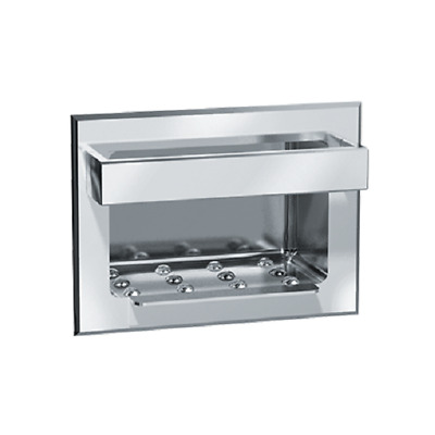 ASI 0399 Recessed Heavy Duty Stainless Steel Soap Dish w/Bar
