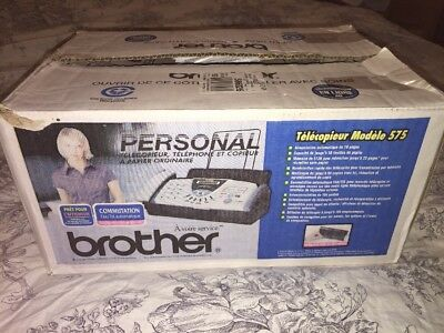 Brother FAX-575 Plain Paper - Scanner -Thermal Copier - Fax  NIB NEW $99 MSRP
