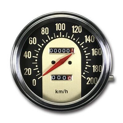 5 inch Mechanical Speedometer 0-200 KM/H for Harley Davidson Ratio 2:1 Gold Face