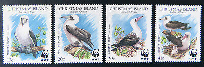 1990 Christmas Island Stamps - Abbott's Booby - Set of 4 MNH
