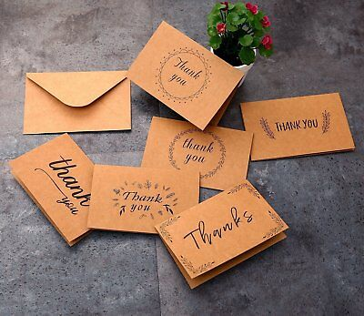 Ohuhu Thank You Card W/ 48 Envelopes for Wedding Graduation Note Cards US Stock