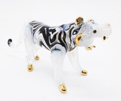 Tiger Canine Gold V.1 Miniature Blown Glass FIGURINE ANIMALS COLLECTION Decorate