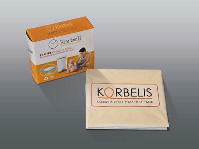 KORBELIS PACK = 3x Korbell Nappy Bin Refills Standard - the cheapest alternative