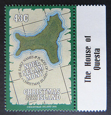 1991 Christmas Island Stamps - Early Names & Places - Single 43c - Tab MNH
