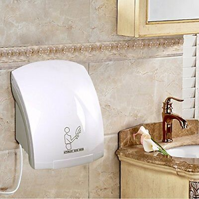White Toilet Hand Dryer 1800W ABS Plastic Low Energy Lightweight For Any Wall