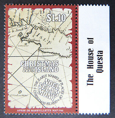 1991 Christmas Island Stamps - Early Names & Places - Single $1.10 - Tab MNH