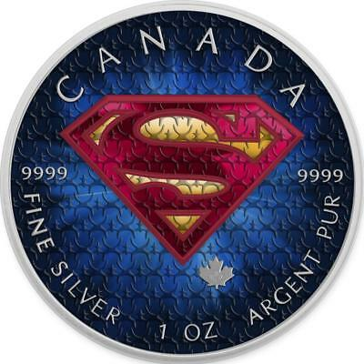 Canada 2016 5$ Superman 1 oz 9999 Silver Colored Suit Precious Bullion Coin