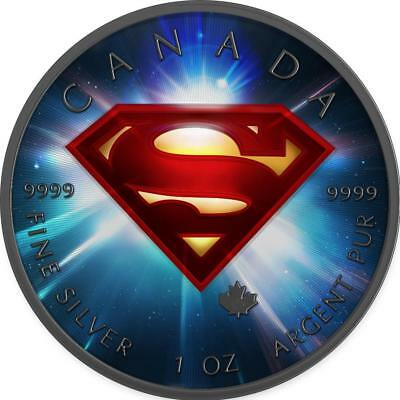 Canada 2016 5$ Superman 1 oz 9999 Silver Colored Space Precious Bullion Coin