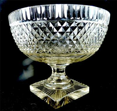 Antique 19Th Century Anglo Irish Glass Footed Bowl Centrepiece
