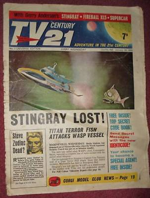 TV 21 Comic 1 CENTURY FREE GIFT IDENTICODE FIREBALL STINGRAY THUNDERBIRDS DR WHO