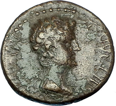 Greek King RHOEMETALKES of THRACE & AUGUSTUS Authentic Ancient Roman Coin i65848