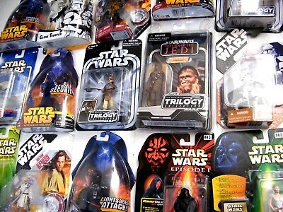 Star Wars Mixed Carded Figures (D) - Potj/potf2/saga/rots - Moc - See Photos!