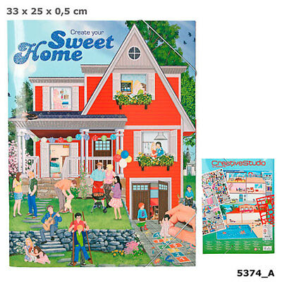 Create your Sweet Home Malbuch mit Stickern, Designbuch, Depesche 5374