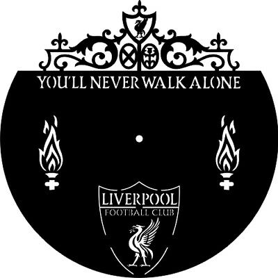 DXF CDR File For CNC Plasma Laser Cut - Liverpool Football Club Clock