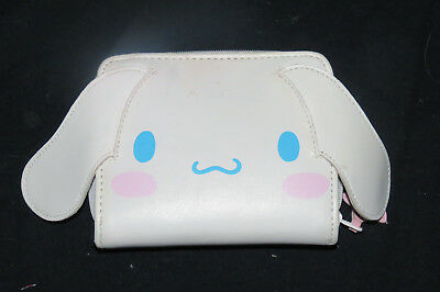 Sanrio Cinnamoroll Face Zip & Snap White Puffy Vinyl Card Holder Clutch Wallet