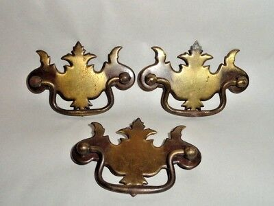"3 Vintage Allison Cabinet Door Drawer Handle Pull Knob Ornate  Japan 3"" Hole"