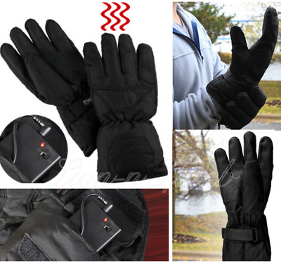 Battery Operated Heated Gloves Outdoor Winter Work Cold Warm Hands LED Indicator