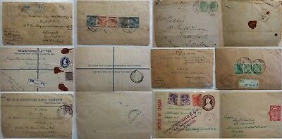 World Postal History QV - 1960's Burma India Commonwealth + Others Registered