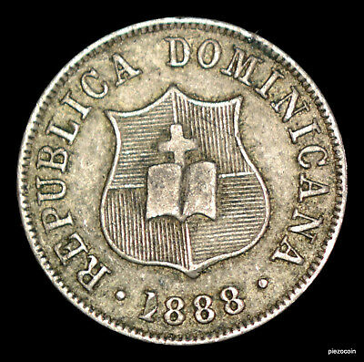Dominican Republic 2-1/2 Centavos 1888 #a123