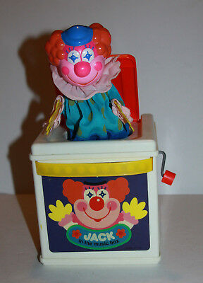 Vintage 1987 Mattel Jack in the Music Box Clown Pop Goes The Weasel Works