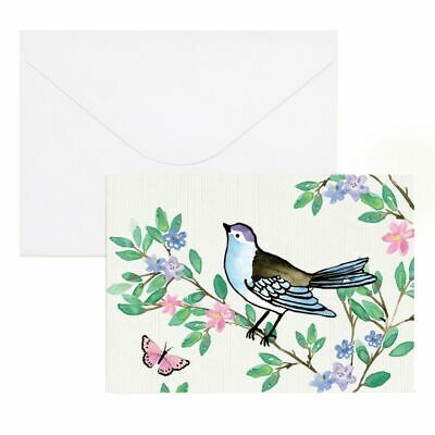 Paper Chic Thank You Cards Floral Bird 10 Pack