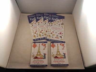 "17 Food & Wine Festival Map & Passport Package ""new"" 8 Maps & 2 Passports"