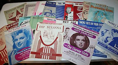 Vintage Sheet Music lot 1940's Mid Century lot of 20