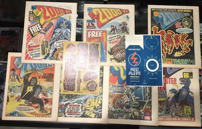 2000 A.D. AD Prog #2 1st Judge Dredd Rare NM w/Stickers #3 #4 #5 #6 #7 #8 Lot