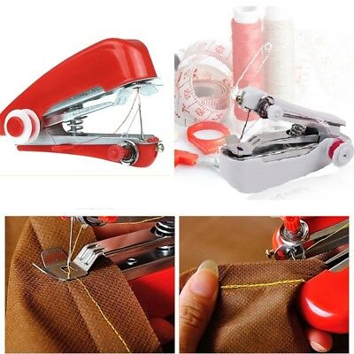 Mini Portable Cordless Hand-held Clothes Stitch Sewing Machine Home & Travel Use