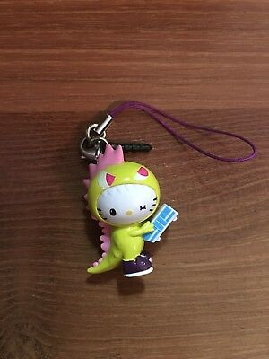 Hello Kitty Tokidoki Frenzies Yellow Kaiju Dinosaur Zipper Pull or Key Chain