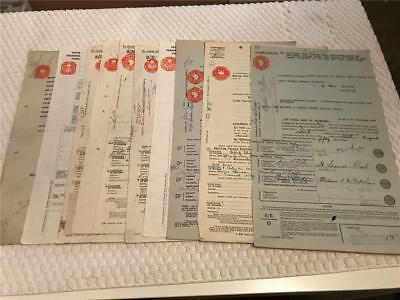 Stock Transfer Forms and Misc Early to Mid 1900s lot of 10 England
