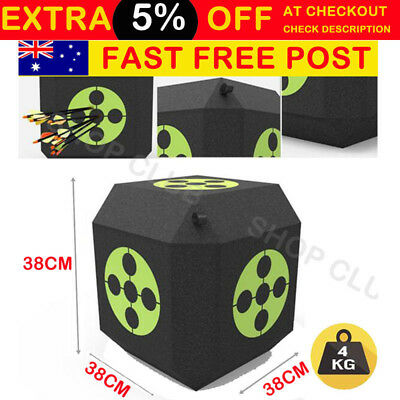 Archery Polyhedral Target 3D High Density Self Healing Foam CUBE 38*38*38 Large
