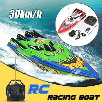 AU Racing Water Remote Control Boat Ship Radio High Speed RC Toy Christmas Gifts