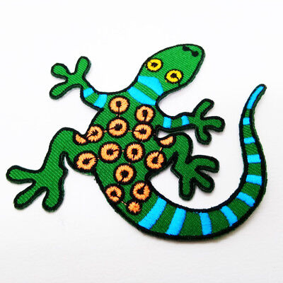 Gecko Green Crewel Embroidery Floral Needlecraft Iron Flowery Accessories sewing