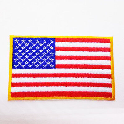 National flag of America Embroidery edge Gold Needlecraft Decor sewing ironing