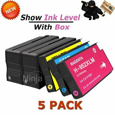 5 Pack 952XL Ink Cartridges For HP 952 XL Officejet Pro 8710 8715 8716 8720 8725