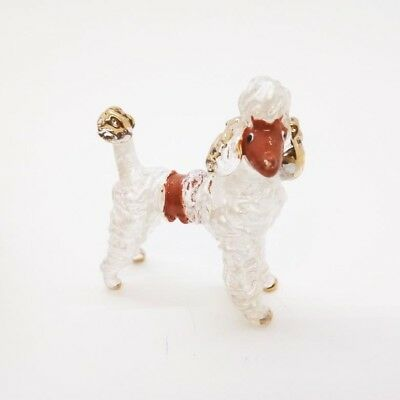 Mini Dog Poodle Cute Hand Blown Miniature Glass Art Animal Fancy Collectible