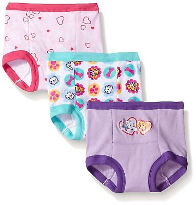Nickelodeon Toddler Paw Patrol Girls Training Panty Cotton Assorted Colors 3Pack