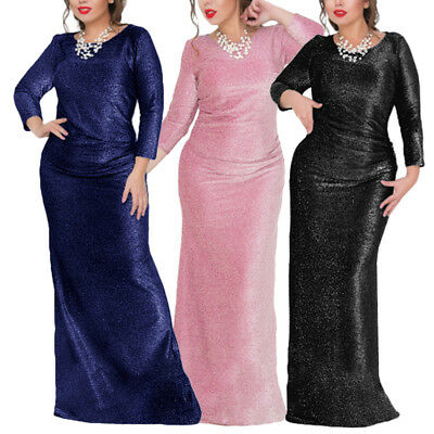 Lady Formal Long Lace Dress Prom Evening Party Cocktail Bridesmaid Wedding Gown