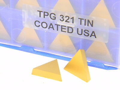 TPG321 C5 TIN COATED CARBIDE INSERT 10 PIECES **NEW** PIC#6938