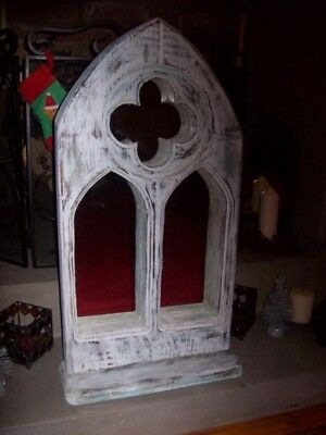 Gothic Style Shabby Chic Mirror Handcrafted from solid re-claimed timber