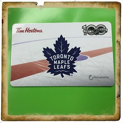 1917-2017  Toronto Maple Leafs Tim Hortons Collectible Gift Card Never Used  #3