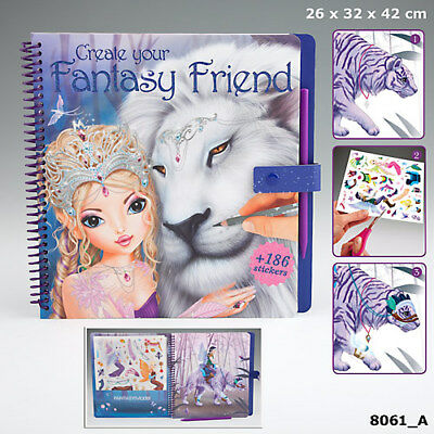 Create your Fantasy Friend Malbuch mit Rubbelbildern, Stickerbögen Depesche 8061