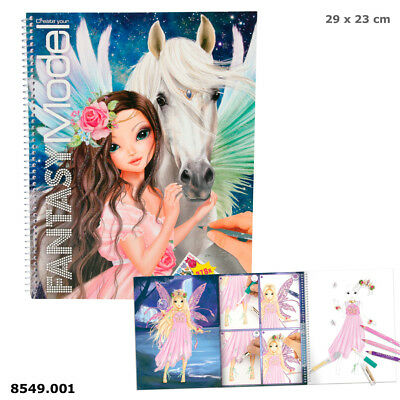 Create your Fantasy Model Malbuch mit Stickern Pegasus Designbuch Depesche 8549