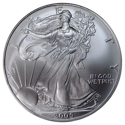2005 US Mint $1 American Silver Eagle 1 oz Silver Coin Direct From Mint Tube