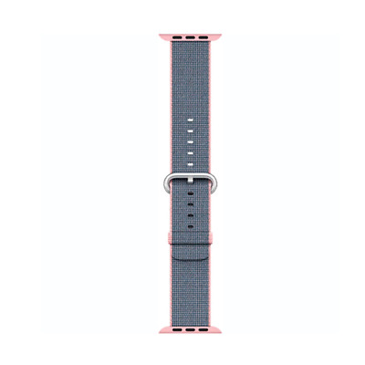 Apple Watch Woven Nylon Band 38mm, Light Pink/Midnight Blue MNK62AM/A