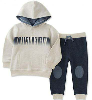 Calvin Klein Infant Boy Hooded Top 2pc Jogger Set Size 3/6M 6/9M 12M 18M 24M