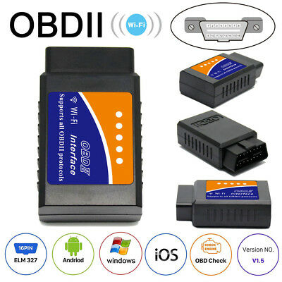 ELM327 V2.1 OBD2 II Bluetooth&Wifi Diagnostic Car Interface Code Scanner
